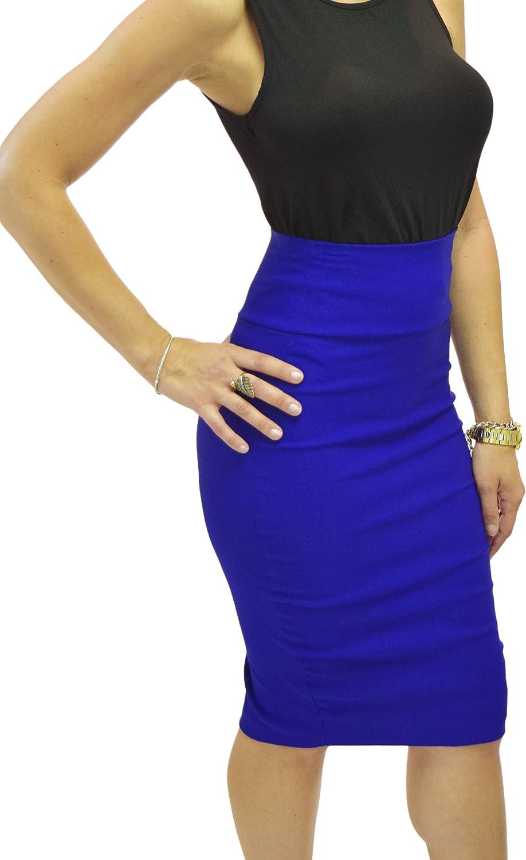 Silhouette NYC Women's High Waist Stretch Bodycon Pencil Skirt