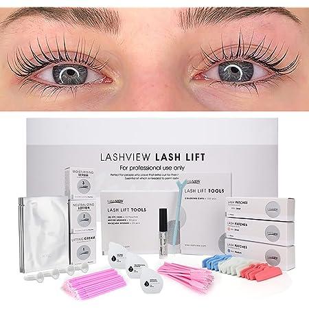 LASHVIEW Lash Lift Kit,Lash Lift,Professional Eyelash Perm Kit,Liquid Set,Semi-Permanent,Curling Perming,Wave Lift Extension Perm Set