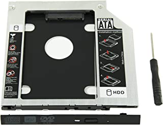 Highfine Universal 9.5mm SATA to SATA 2nd SSD HDD Hard Drive Caddy Adapter Tray Enclosures for DELL HP Lenovo ThinkPad ACER Gateway ASUS Sony Samsung MSI Laptop