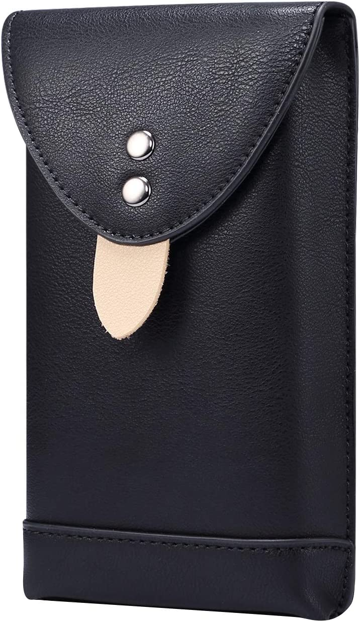 SZCINSEN Leather Cellphone Pouch Holster for Samsung Galaxy S20 Ultra, S21 Ultra 5G,S21+ 5G,A71 5G, Note 20 Ultra,Mens Waist Pack with Carabiner Clips for Travel (6.9 inch) (Color : Black)