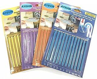 AYEVIN Bastões de limpeza de drenagem para manter drenos e tubos limpos e com bom cheiro, 4 pacotes (48 saltos) em quatro ...