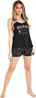Pijamas Mujer, Conjunto 2 Piezas Camiseta Tirantes y Shorts, Pijama Mujer Algodon 100%, Merchandising Oficial Regalos para Mujer y Adolescentes
