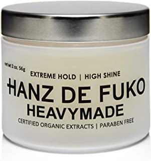 Hanz de Fuko Heavymade- Hair Styling Gel Pomade with a High Shine Finish (2oz)