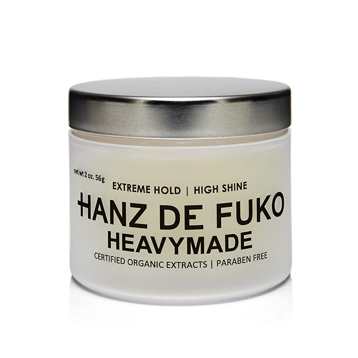 礼拝私の貫通Hanz de FukoプレミアムメンズヘアスタイリングHeavymade Pomade:ミディアムシャイン仕上げの高性能ヘアスタイリングペースト56g