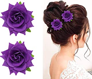 Confidence Artificial Rose flower Hair Clips For Baby Girls and Kids Women Juda Clips