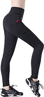 EAST HONG Women's Running Workout Yoga Pants Athletic Leggings with Pockets