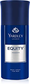 Yardley Equity Body Spray, fresh inviting fragrance, all-day long, 150ml