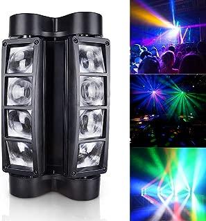 Betopper Mini Spider Moving Head Stage Light LED DJ Lighting RGBW, 8 x 3W DMX 512 Dual Sweeper Pulse Strobe Effect Lights for Restaurant,Live,Club,Concert etc.