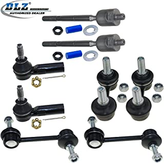 DLZ 8 Pcs Suspension Kit-2 Inner 2 Outer Tie Rod End 2 Front 2 Rear Sway Stabilizer Bar Compatible with Toyota Corolla 1993-2002