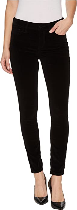Velvet Icon Midrise Skinny Ankle Jean In Black Cat