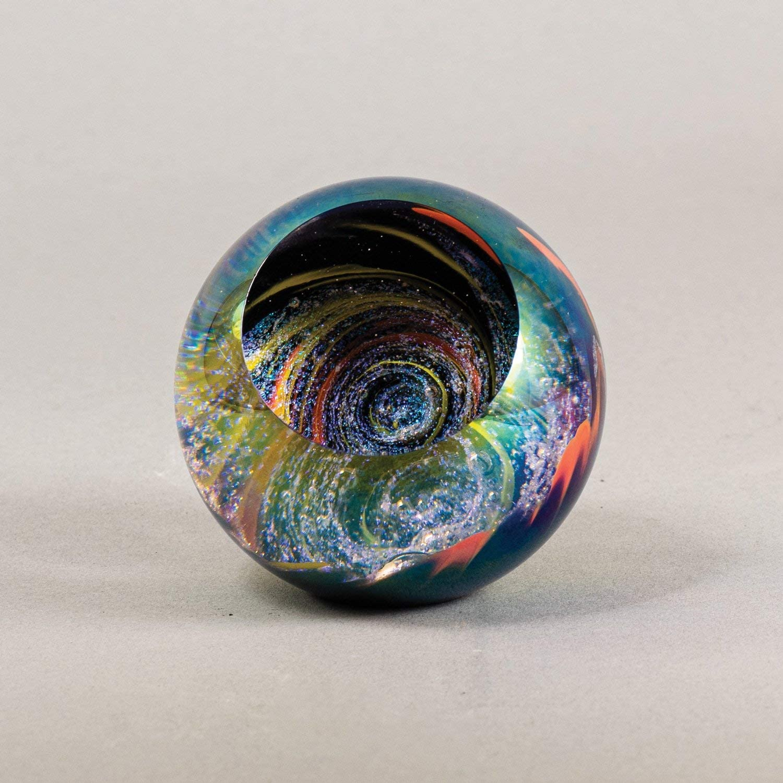 Glass Eye Studio Bombing free shipping Black Paperweight Fireball Marble 2