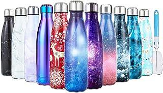 comprar comparacion I Kua Fly Botella Agua Acero Inoxidable 500ml sin BPA Doble Pared Aisladas Botella Termica con Pincel, Adecuada para Niños...