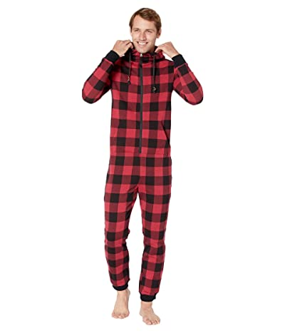 tentree Juniper One-Piece (Rio Red Heather Plaid) Jumpsuit & Rompers One Piece