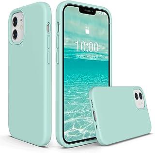 SURPHY iPhone 12 Mini 5.4インチ対応 (2020)アイフォン12 Mini シリコンケース 耐衝撃 落下防止 防指紋 超軽量 全面保護 カバー ソフト ワイヤレス充電対応 (ミントグリーン)