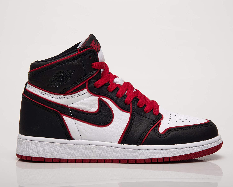 Nike Jordan 1 Retro High OG GS Niños Rojo/Blanco/Negro 575441-062 (Tamaño: