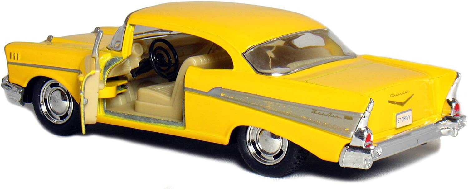 Castle Toys Box  5 1957 1 40 Scale Chevy Bel Air Coupe Vehicle (12 Piece), Black bluee Red Yellow by Castle Toy
