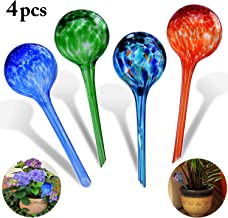 Self-watering Bulbs, Fascigirl 4 pack Hand-blown Glass Plant Watering Device Aqua Globes Bulbs Self Automatic Watering System