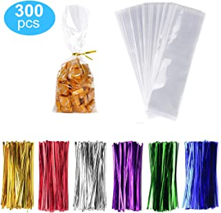 300 Pack Clear Treat Bags Clear Candy Bags 2
