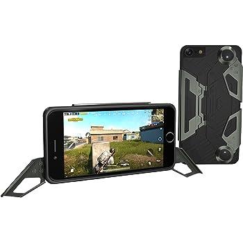 ゲームがうまくなるiPhoneケース EXISS 横置きスタンド付き 持ちやすい かっこいいデザイン 動画が見やすい ゲームが快適になる (iPhone8, ダークグリーン)
