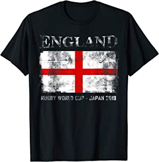 World Rugby 2019 England Flag Gift for Fan & Team Player T-Shirt