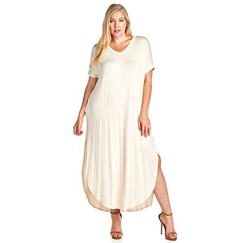 Plus Size Cream Dress: Amazon.com