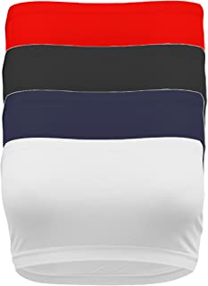 TL Women's Strapless Seamless Active Base Layer Bandeau Tube Top -Single or Pack