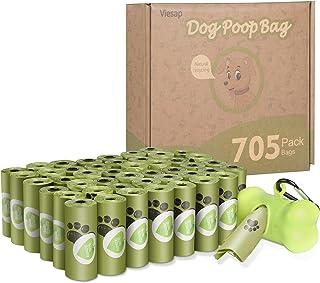 Viesap Bolsas Caca Perro, 705 Pcs Bolsas Excrementos Perros, Bolsas para Excrementos De Perro con Dispensador, Bolsas Perr...