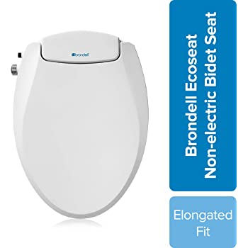 Brondell Swash Ecoseat Non Electric Bidet Toilet Seat Fits Elongated Toilets White Dual Nozzle System Ambient Water Temperature Bidet With Easy Installation Amazon Com