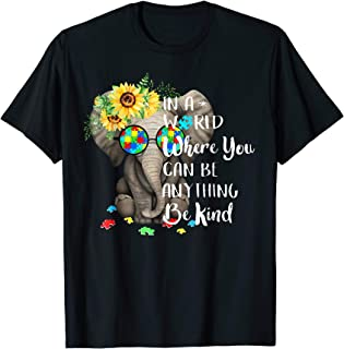 In A World Where You Can Be Anything Be Kind Autism Shirt
