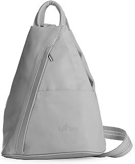 LiaTalia Zaino Unisex - 100% morbida pelle italiana - Tracolla convertibile da utilizzare come borsa a tracolla - Piccolo ...