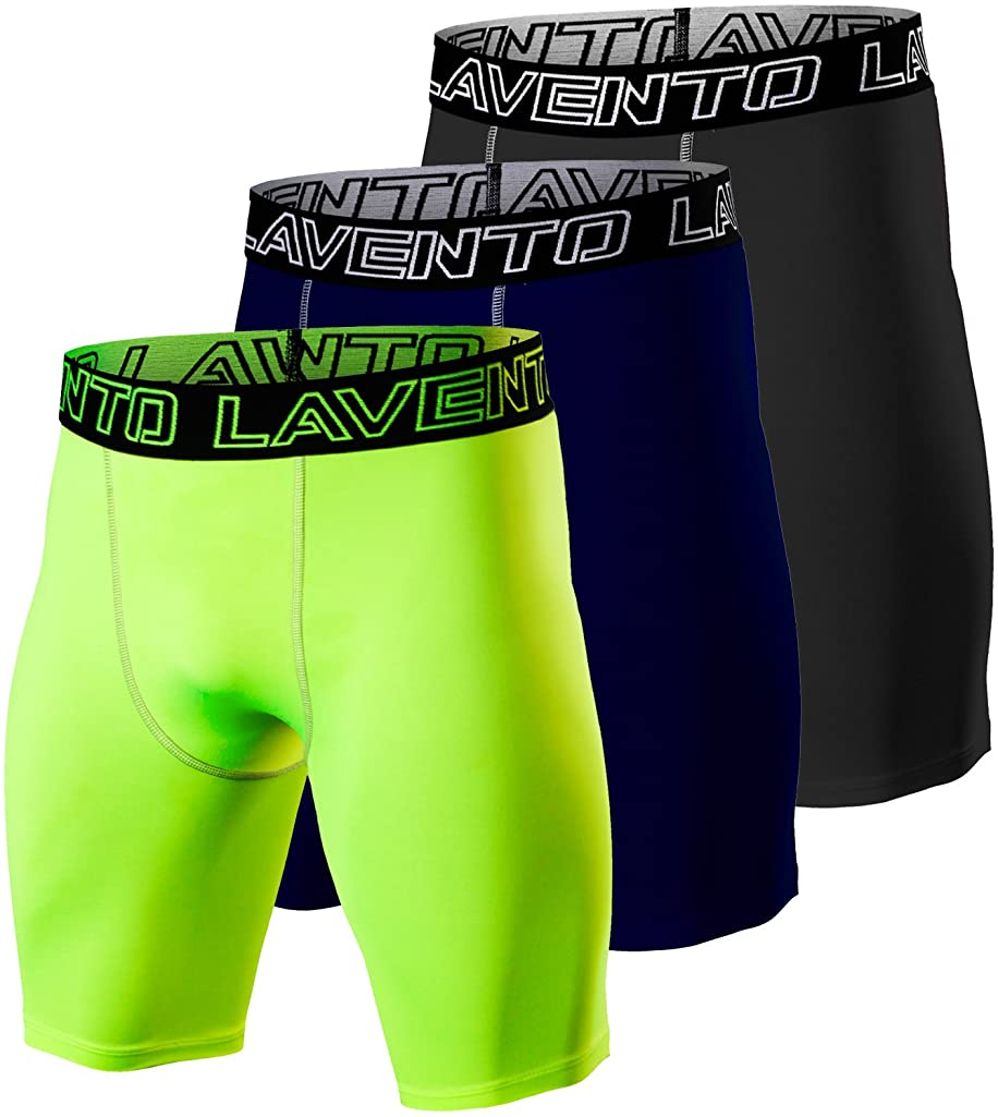 Lavento Men's Compression Shorts Sports Baselayer Cool Dry Tights