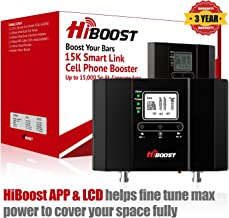 HiBoost 15K Smart Link - Cell Phone Signal Booster - Improves Reception on Phones, Tablets and Hotspots - Cell Booster to Support all Carriers - For Homes and Offices. Boost up to 7,000-15,000 Sq.Ft.