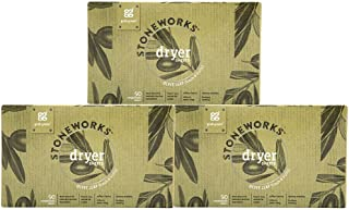 Grab Green Stoneworks Dryer Sheets, Naturally-Derived & Compostable, Free of Wax & Animal-Derived Ingredients, Olive Leaf,...