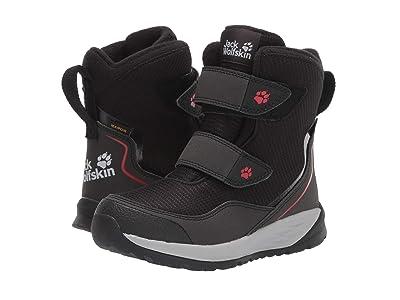 Jack Wolfskin Kids Polar Bear Texapore High VC (Toddler/Little Kid/Big Kid) (Black/Red) Boys Shoes