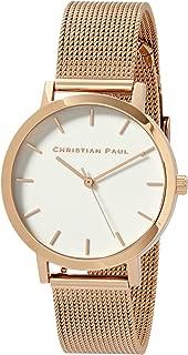 Christian Paul Women RWR3519 Year-Round Analog Quartz Rose Gold Watch