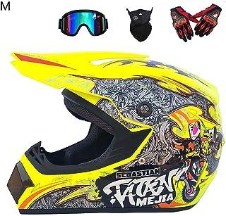 a92893905c Beatie Cascos de Motocross, Casco de Motocross Four Seasons Totalmente  Cubierto, Casco Integral,