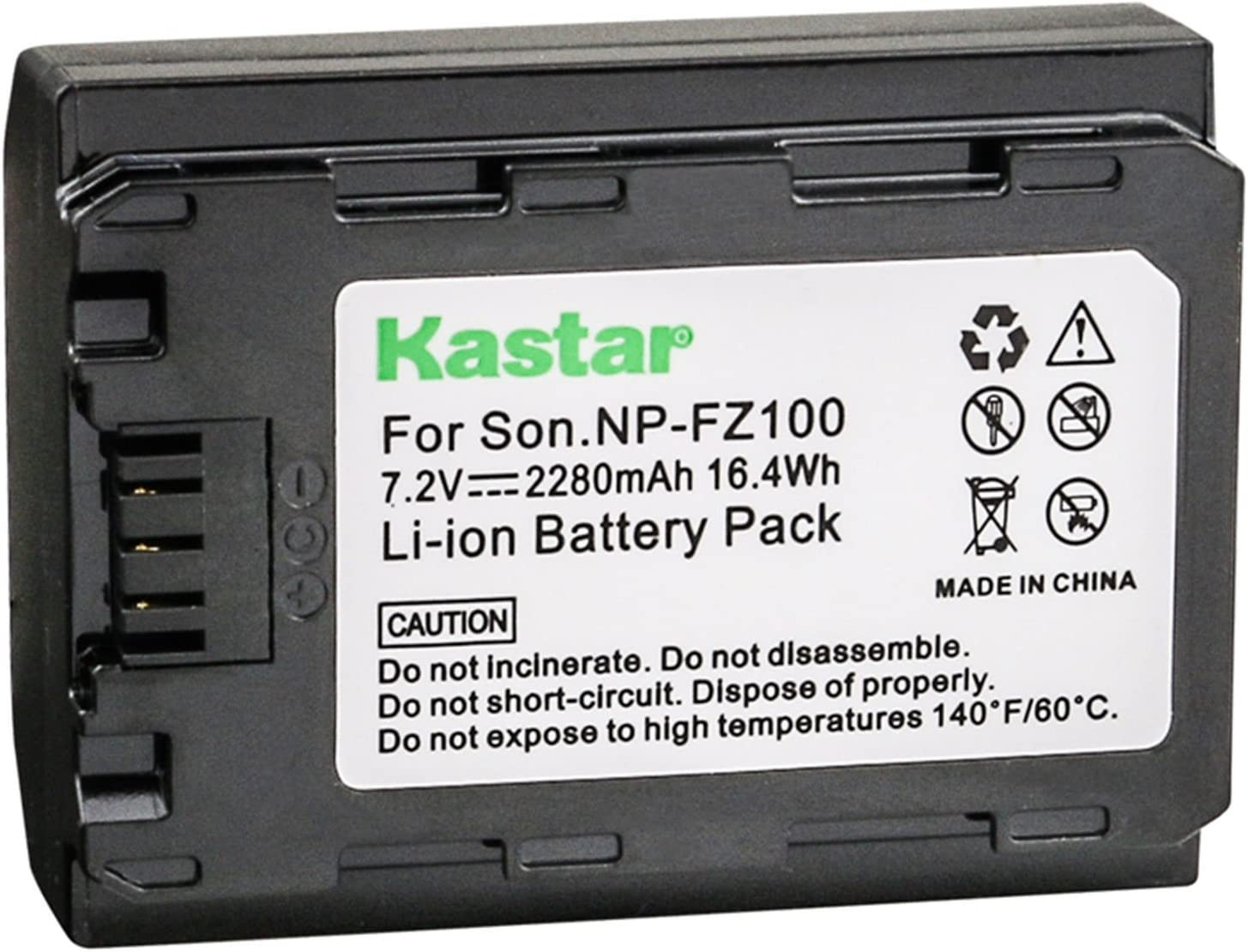 Ranking TOP8 Kastar Battery 1 Pack for Sony NP-FZ100 9 BC-QZ1 Alpha Cheap mail order specialty store and