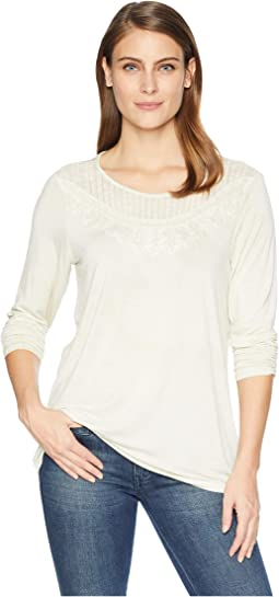 Long Sleeve Top with Crochet