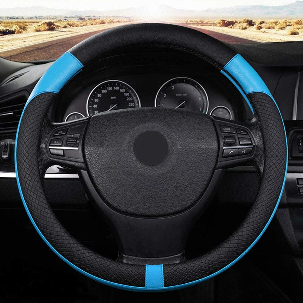 ROER Car Steering Wheel Cover 35% OFF Comfortable Blue with Over item handling ☆ Breathable