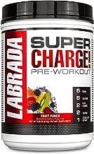Labrada Nutrition Super Charge Preworkout Advanced Pump and Endurance Formula, Fruit Punch, 625 Gram