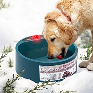PETLESO Heated Dog Water Bowl - Outdoor Dog Water Bowl for Small to Large Dogs
