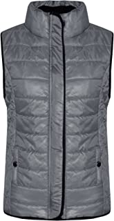 Kids Girls Boys Unisex Grey Wet Look Sleeveless Padded Gilet Body Warmer Jackets