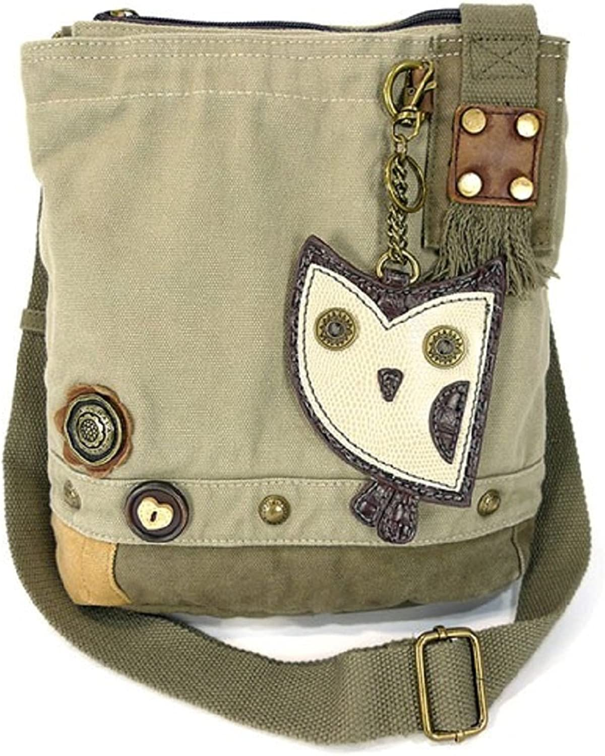 Patch Crossbody Owl in Sand By Chala