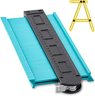 Sponsored Ad – 10 Inch Contour Gauge with Angle Ruler   Multi Tool Profile Duplicator with Multi Angle Ruler   Metal Lock ...