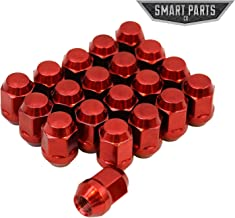 Smart Parts 20 Qty Red Bulge Lug Nuts 12x1.5 Threads Cone Seat Closed End Acorn 1.4