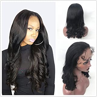 Dovie Hair Pre Plucked 360 Lace Frontal Wigs Loose Wave Brazilian Virgin Human Hair Wigs 180% Density 360 Lace Wigs For Black Women with Baby Hair Small Cap (16