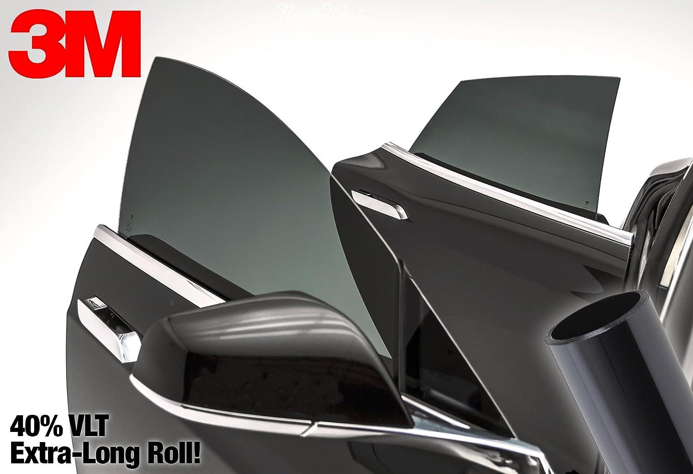 27 Inch x 60 Inch Long Roll Pack 3M 40/% VLT Medium Dark Smoke Black Car Window Tint Vinyl Wrap Roll