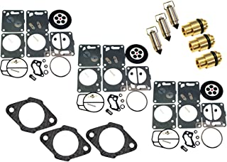 Venom Brand Mikuni Carburetor Rebuild Kit-Needle/Seat Carb Base Gasket (Compatible With Polaris, Fits MANY 1992-1997 SL SLT SLX 650 750 780) (See Ad For Exact Year & Model Fit)