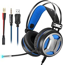 Sendk Gaming Headset for PS4 Gaming Wired Headphones Over-Ear Headphones for PS4 Laptop Switch PC Computer iPad Tablet Mobile Phone