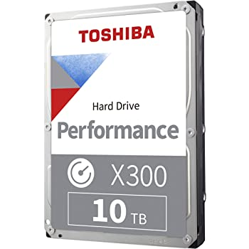 "Toshiba HDWR11AXZSTA X300 10TB Performance & Gaming Internal Hard Drive 7200 RPM SATA 6Gb/s 256 MB Cache 3.5"""